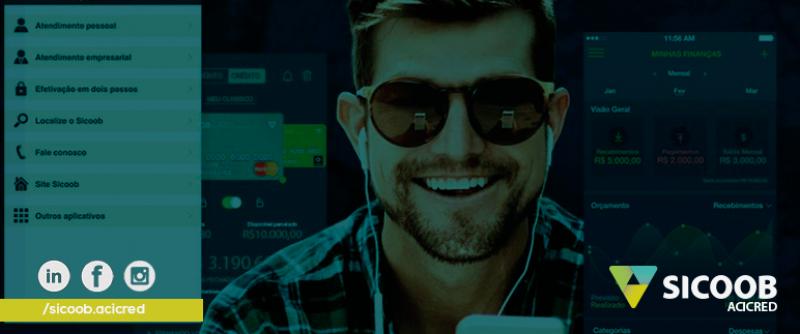 Revista Sicoob o aplicativo do cooperativismo financeiro em seu smartphone